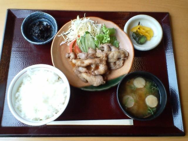 やまとの湯_生姜焼き定食